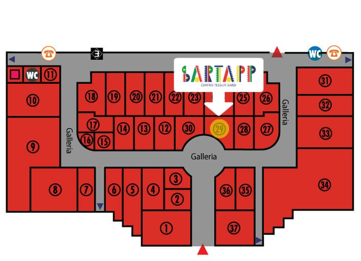 mappa sartapp